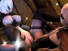 Hard mom and kekkasih 2B with 9S Sexual 3d Animations 10 min Full HD Watermark free