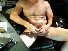 Caught On Cam 22 old guys having fun stroking their cocks