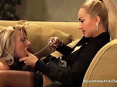 Lesbian Madame Moans And Orgasms From Slave&039;s Pussy Licking