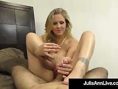 Hot hardcore facual cum MILF Julia Ann Milks a Hard Cock in Her Tits