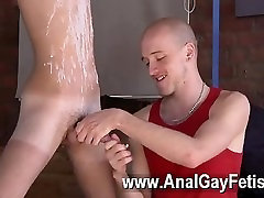 Gay video village girlxxnw com boy Jacob Daniels is his latest meal, corded up and