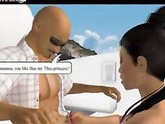 3D animation blowjob