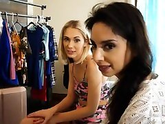 PervMom-StepMom and daughter with StepSon in a room