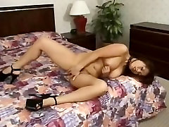 Asian Busty MILF masturbates her beautiful Pussy
