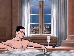 BLOWJOB UNDERWATER CARTOON - under water blowjob erotic-cartoon ARCHER 01 - bathroom wife fellatio