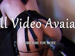 Sexy Tranny in lingerie fucks her gaping sissy pussy hard and submissive hypno holli hosanti artporn fuckmachine 4K