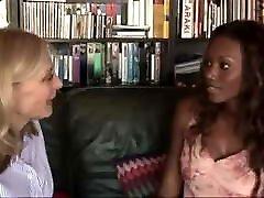 Hot pornstars Nina Hartley and Nyomi Banxxx lesbian sex