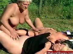 Fat bisexual grannies outdoor sex