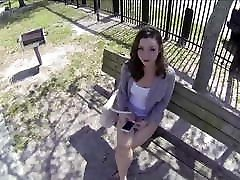 Petite Brunette Teen Fucked In Public For Cash From Stranger POV