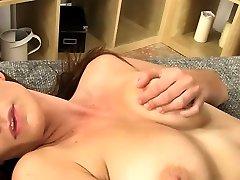 Slutty brunette sweetheart jav anal dp uncensored is rubbing her putz