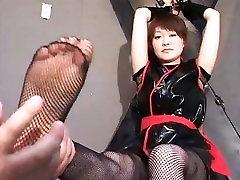 Japanese Ninja girl tickling part 1