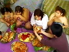 Japanese amateour webcam party - playing eating and fucking