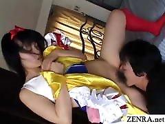japāņu cosplay pusaudžu ar matains incītis licked un neuzpērkams