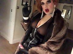Slutkayleigh steffany blowjob and stroking pvc fur