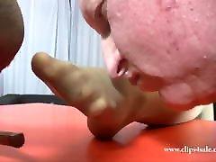 nylon foot slave