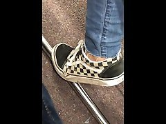My Ex Girlfriend in very old and dirty checkered vans First Vid I ever recorded