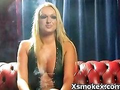 sexy milf smoking