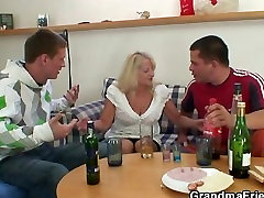 Blonde only hot lady porn in hot threesome orgy