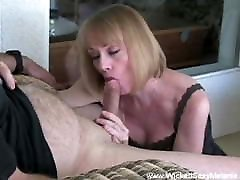Cocksucking With orgasm home Blonde GILF