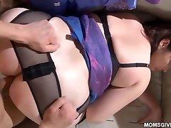Fat, mature brunette with a big, round ass, Ba- Bob- Ska is having sex with her neighbor
