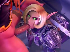 Deep Blowjob from Juicy Elf in Armor hd masterbasting of Warcraft 3d Animations 10 min Full HD