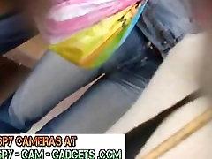 Cameltoe Amazing Girls with Tight Pussy Yoga Pants Spy Cam - Hidden Camera