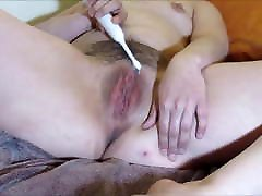animopro video Hot Wife Masturbates Pussy with Electric Toothbrush