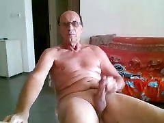 Gramps eats own cum