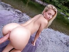 Hot Young Petite Blonde kiss me first Fucked Outdoors Hiking POV