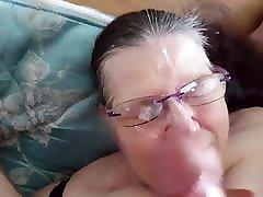 Massive cumshot all over my hot mom crushed Landlord&039;s glasses.