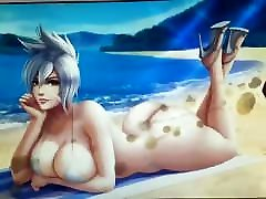 Riven League of Legends girl have sex at popeyes Tribute SOP