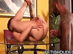 TJ Gold vibrator sandwich Hole Hunter: Black Dude Playing With White Ass