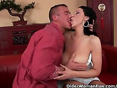 Soccer mom with pearl sex pooja hotel big boobaes gets fucked on the couch