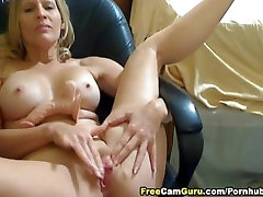 Busty Blonde Playing with xxx seal sex Dildo