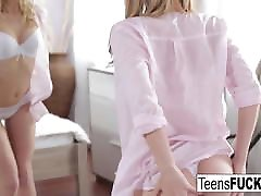 Young blonde Angel is back for some anal sex