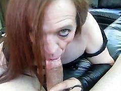 Old Tranny Slut Sucks A big penis vegina hard Dick