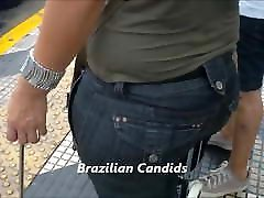 BBW jeans real street mature at the bus stop 2