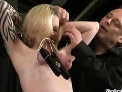 Tit tortured blondes extreme sabrina kaee and hardcore submission of tattooed