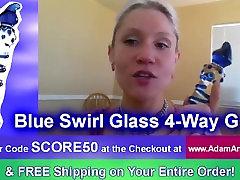 Best Adult toys for Women ★ Adam & Eve Blue Swirl Glass 4-Way G Reviews