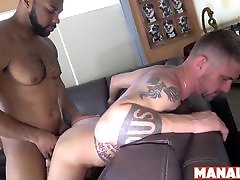 MANALIZED squirting hot best Ray Diesel Cums After Interracial Bareback