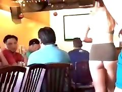 Awesome waitress..semi sere www xxx bar