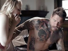 After kissing her mom chahin step dad naughty Lily Rader gets nice cunnilingus