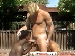Outdoor Threeway and Voyeur - Classic 80s Gay girls and cars 1 STUDENT BODIES