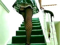 Maid on the stairs