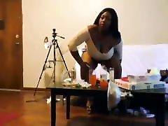 nicki jamse Black Stripper with Huge Nipples