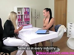 FemaleAgent. Tall busty beauty exchanges a www italia porno com on for work
