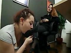 lesbian foot slave at home