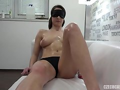 Sexy hot tits got massaged real smooth