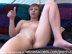 skinny hot highschool chick nervous and nude for the first time