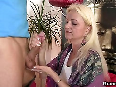 Cock-hungry oldie rides his hard meat